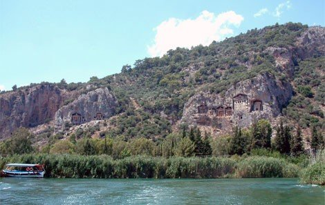 Dalyan River Rock Tombs