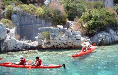 Sea Kayaking Sunken City Kekova