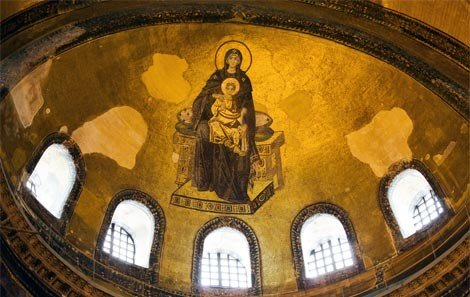 The Apse Mosaic in the Hagia Sophia