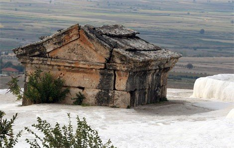 Tomb in a travertine pool in Hierapolis